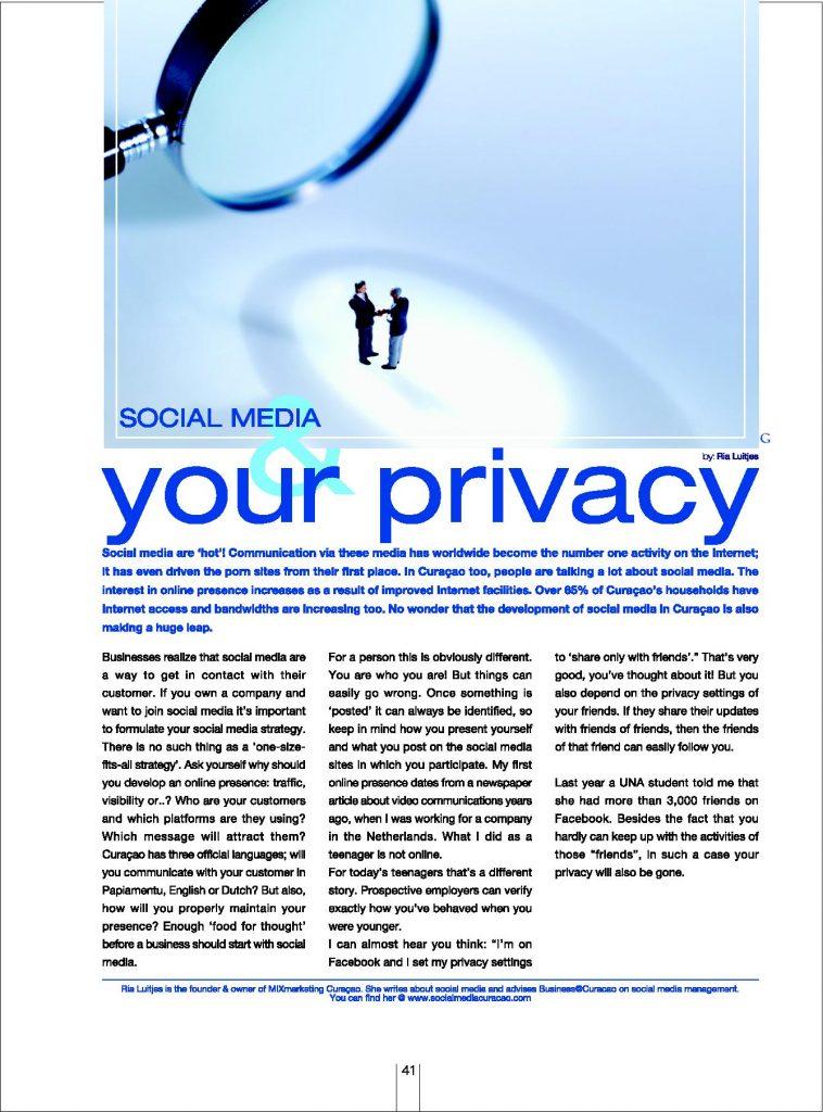 Dushi Magazine ENG-41 social Media by Ria Luitjes