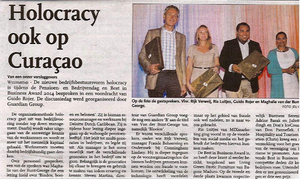 foto krant guardian Group pensioen en bdrijvendag 23 mei