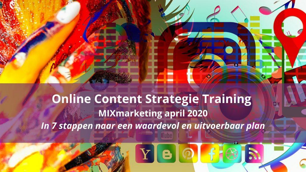 content strategie training online MIXmarketing