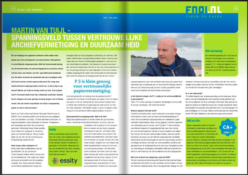 interview duurzaamheid CA+ spanningsveld AVG en circulariteit