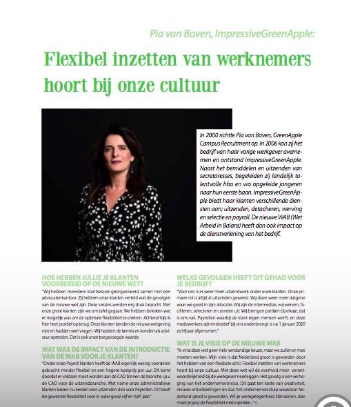 pia van Bover interview voor Business haaglanden