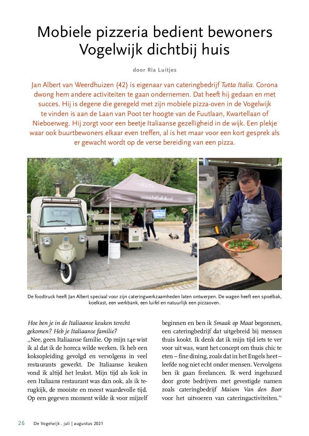 interview foodtruck Vogelwijk
