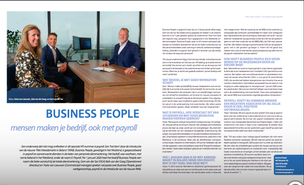 interview business people payroll