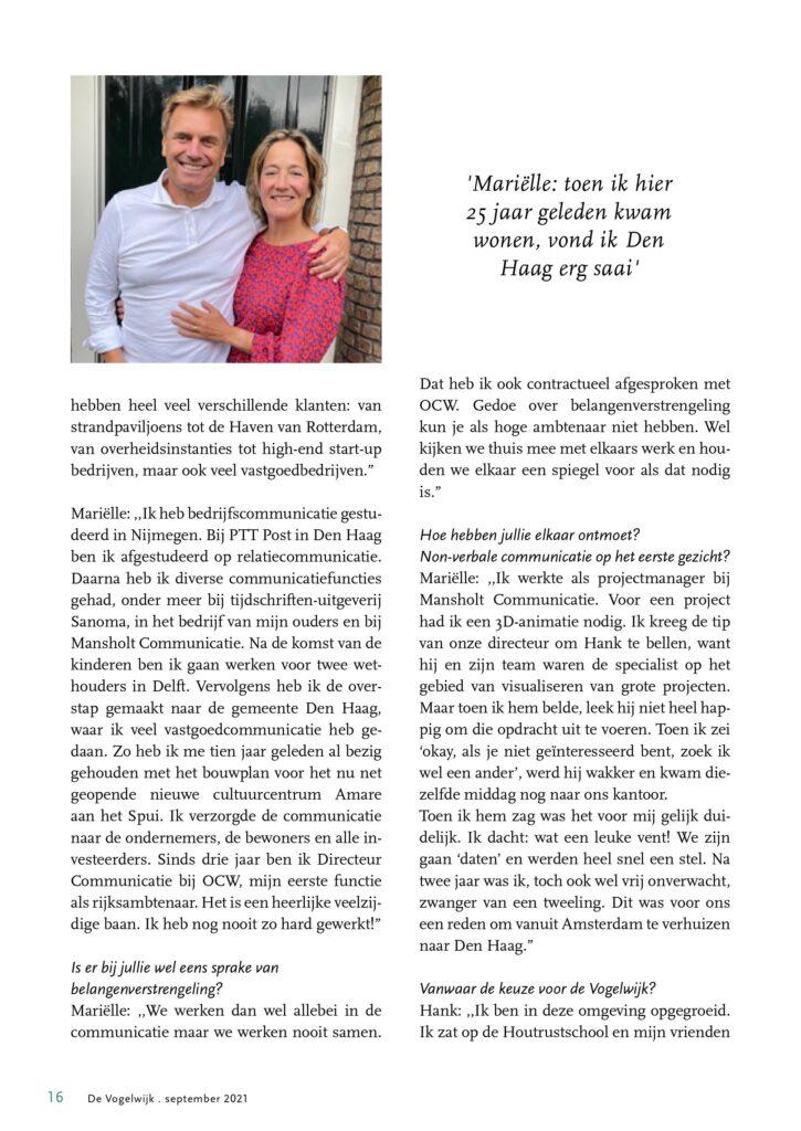 in gesprek met Hank Smient en Marielle Bevers -communicatiekoppel